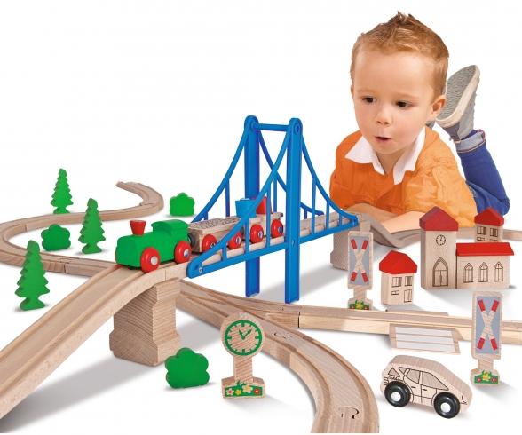 Eichhorn Train, Train Set with Bridge