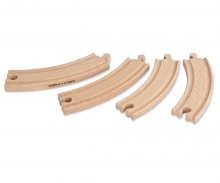 Eichhorn Train, large curved Tracks, 4 pcs.