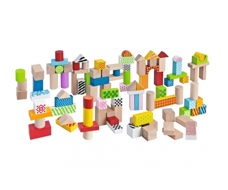 Eichhorn Color, Wooden Building Blocks