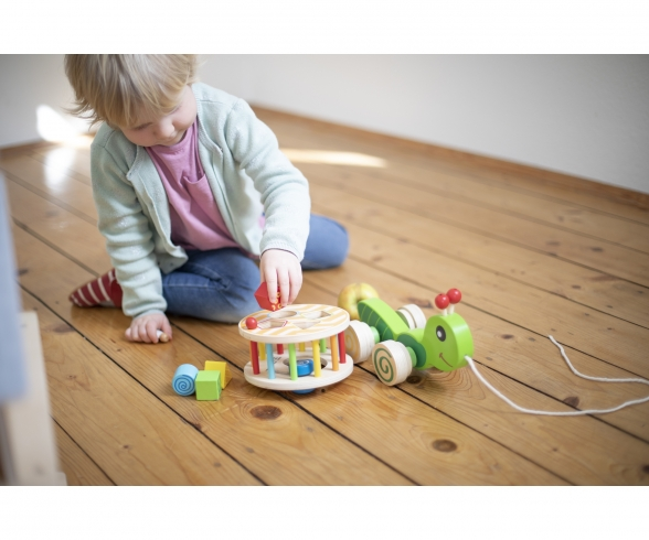 Eichhorn Color, Pull-along Stacking Animal