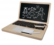 Eichhorn Wooden Laptop with Puzzle