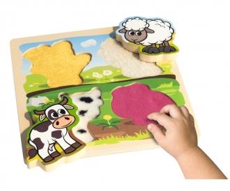 EH Puzzle Tactile avec tissue, 5pcs