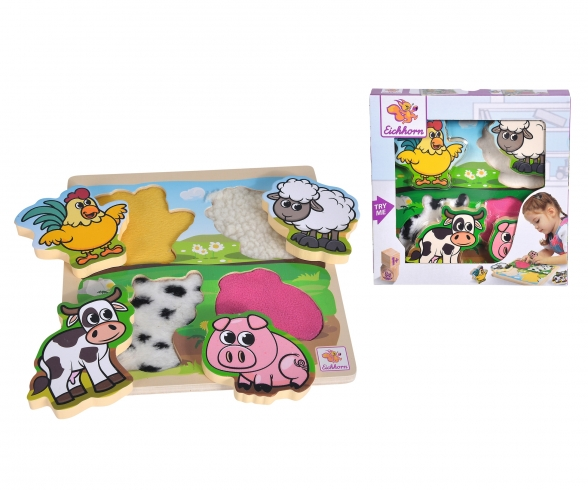 Eichhorn Feel-Puzzle with Fabric, 5 pcs.