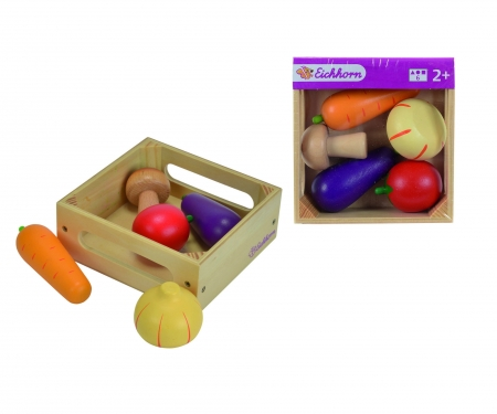 Eichhorn Wooden Box with  Vegetables