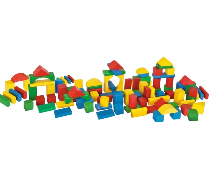 Eichhorn Coloured Wooden Blocks