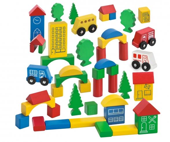 EH Wooden City Blocks, 50-ass.