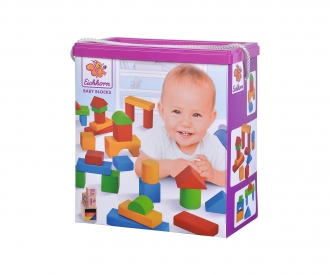 Eichhorn Coloured Wooden Blocks Baby