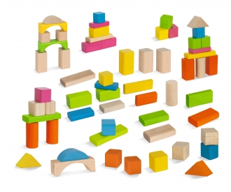 EH Nature and Coloured Wooden Blocks