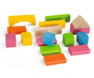 Eichhorn Nature and Coloured Wooden Blocks