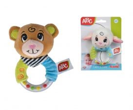 ABC Plush Ring Rattle, 2-ass.
