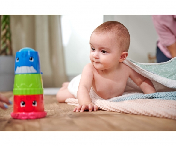 ABC Bucket with Stacking Cups