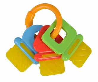 ABC Key Ring Rattle, 2-ass.
