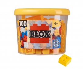 Blox - 100 4er Bausteine gelb - kompatibel mit bekannten Spielsteinen