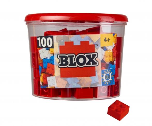 Blox - 100 4er Bausteine rot - kompatibel mit bekannten Spielsteinen