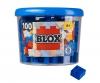 Blox - 100 4er Bausteine blau - kompatibel mit bekannten Spielsteinen