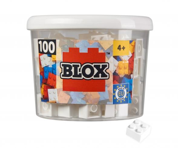 Blox - 100 4er Bausteine weiß - kompatibel mit bekannten Spielsteinen