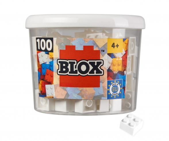 Blox 100 white 4 pins Bricks in Box