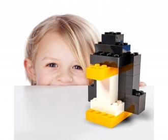 Blox - 100 4er Bausteine schwarz - kompatibel mit bekannten Spielsteinen