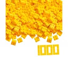 Blox - 1000 4er Bausteine gelb - kompatibel mit bekannten Spielsteinen