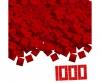 Blox 1000 red 4 pin Bricks Loose