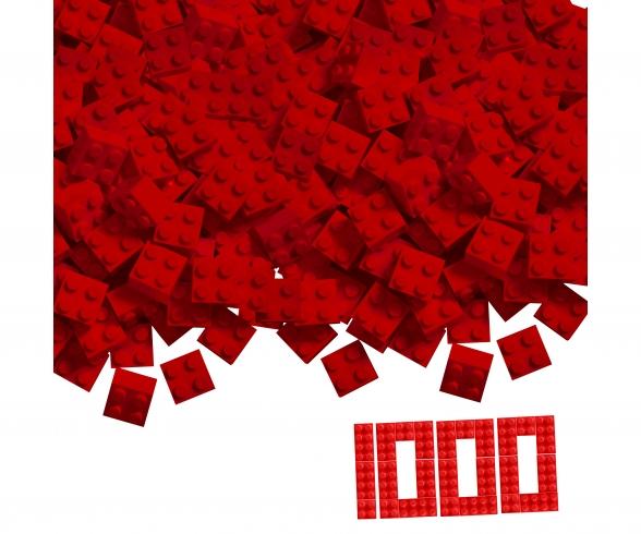 Blox - 1000 4er Bausteine rot - kompatibel mit bekannten Spielsteinen