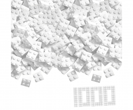 Blox 1000 white 4 pin Bricks Loose