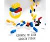 Blox - 1000 4er Bausteine weiß - kompatibel mit bekannten Spielsteinen