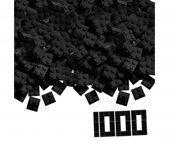 Blox - 1000 4er Bausteine schwarz - kompatibel mit bekannten Spielsteinen