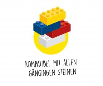 Blox - 50 Bausteine gelb - kompatibel mit bekannten Spielsteinen