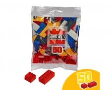 Blox - 50 Bausteine rot - kompatibel mit bekannten Spielsteinen