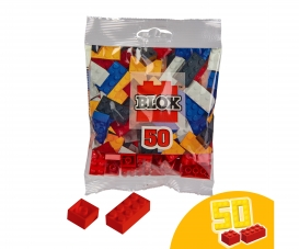 Blox 50 red Bricks in Foilbag