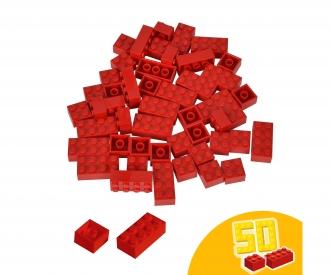 Blox 50 red Bricks in Foilbag