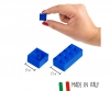 Blox 50 blue Bricks in Foilbag