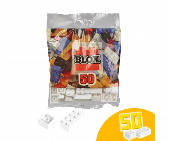 Blox 50 white Bricks in Foilbag