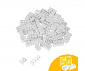 Blox - 50 Bausteine weiß - kompatibel mit bekannten Spielsteinen