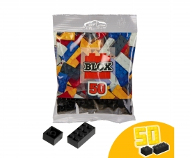 Blox 50 black Bricks in Foilbag