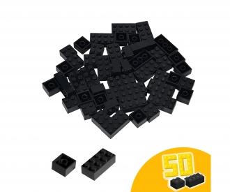 Blox - 50 Bausteine schwarz - kompatibel mit bekannten Spielsteinen