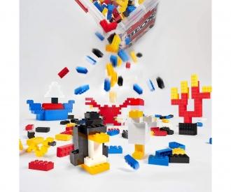 Blox - 300 Bausteine bunt - incl. Box - kompatibel mit bekannten Spielsteinen
