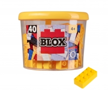 Blox - 40 8er Bausteine gelb - kompatibel mit bekannten Spielsteinen