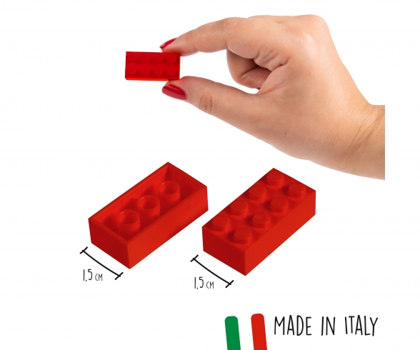 Blox - 40 8er Bausteine rot - kompatibel mit bekannten Spielsteinen