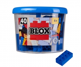 Blox 40 blue Bricks in Box