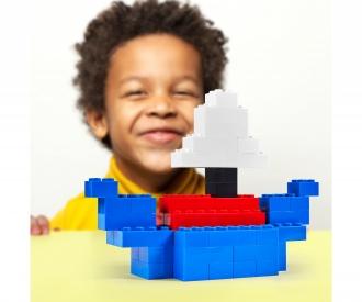 Blox - 40 8er Bausteine blau - kompatibel mit bekannten Spielsteinen
