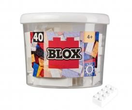 Blox - 40 8er Bausteine weiß - kompatibel mit bekannten Spielsteinen