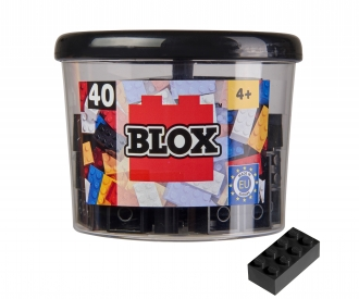 Blox - 40 8er Bausteine schwarz - kompatibel mit bekannten Spielsteinen