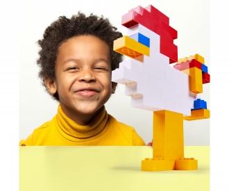 Blox - 100 8er Bausteine gelb - kompatibel mit bekannten Spielsteinen