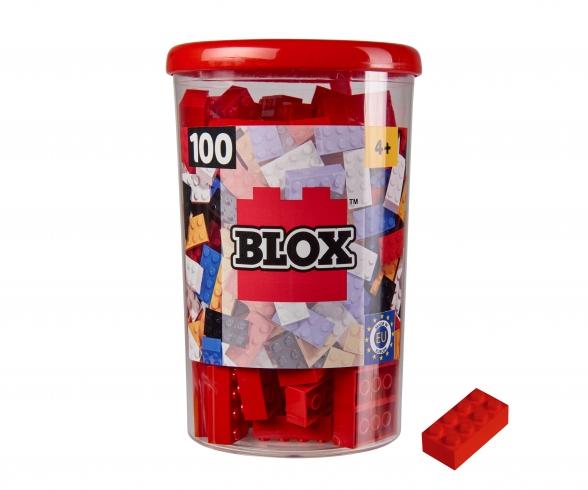 Blox - 100 8er Bausteine rot - kompatibel mit bekannten Spielsteinen