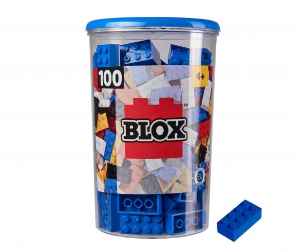 Blox 100 blue Bricks in Box