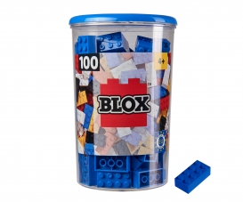 Blox 100 blue Bricks in Box