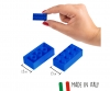 Blox - 100 8er Bausteine blau - kompatibel mit bekannten Spielsteinen