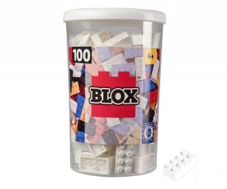 Blox - 100 8er Bausteine weiß - kompatibel mit bekannten Spielsteinen